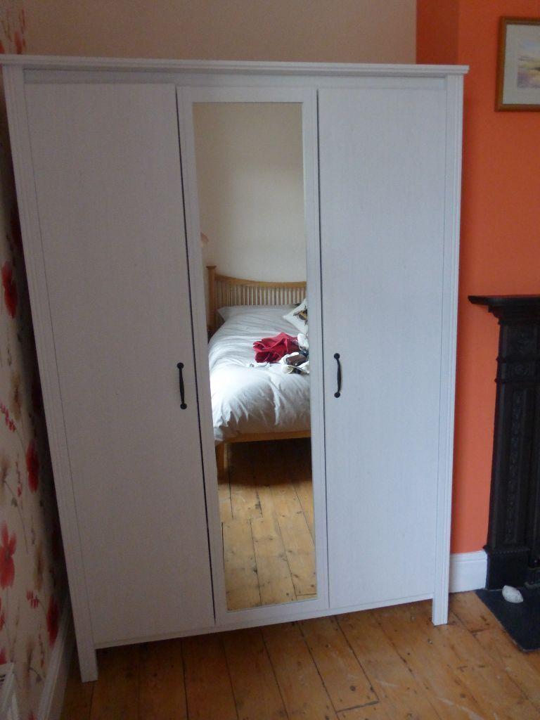 Wardrobe Ikea Brusali 3 Door White In Little Neston