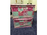 2x girls storage boxes