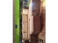 Garden Rattan Design Beige Corner Sofa