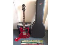 Cherry Red Epiphone SG G-400 Guitar with Hard Gator Travel Case and VOX XL Amp
