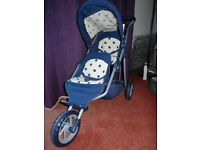 Mamas and Papas Toy DOLLS 3 Wheel Double Decka Jnr Pushchair