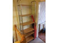 bookcase: shelving unit - Approx 30x65x195cm.