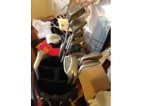 golf clubs and trolley 25.00