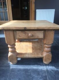 Wooden coffee table, balmedie, aberdeenshire