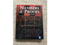 Numbers and Proofs textbook