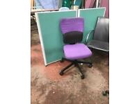 Purple & Black Adjustable Chairs