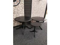 Set of three display tables suit retail