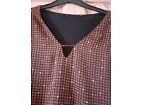 Mango V Neck blouse/ top - size M