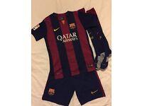 FOR SALE - 2013/14 BARCELONA 'MESSI' FOOTBALL KIT - AGE 10 -12 YRS (MEDIUM) - £12 ONO