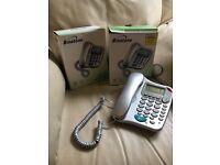 Landline phone x2 with answerphone
