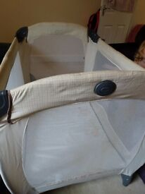 Travel cot by Gracco, good used condition.