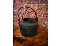 vintage cast iron glue pot