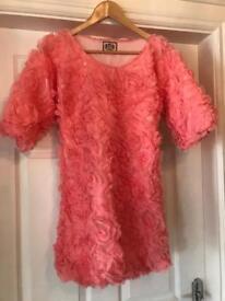 Juicy Couture ladies pink 3D top/ mini dress ....never worn