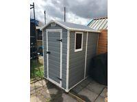 6 x 4 garden shed.