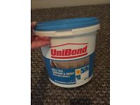 Unibond tile grout just about half full