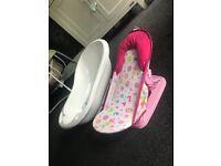 Baby bath and bath seat