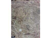 Floor Tiles .. 430 X 430 .. Marbled Beige / Cream .. Bathroom / Kitchen .. Brand New & Boxed ..