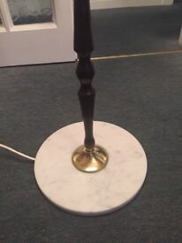 A Marble/onyx and mohogany Standard lamp circa 1970s.