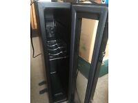Wine Cooler / Fridge Mini Refrigerator Black Good Condition - Man Cave Beer Fridge