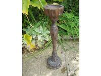 Free wooden plant or ash tray stand