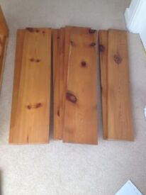Eight beautiful dense pine shelving boards.