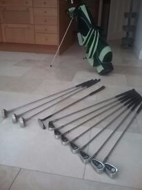 WILSON TIARA GOLF CLUBS COMPLETE WITH BAG