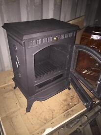 Cast iron Log burning stove wood burner