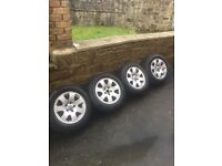 "15"" vw Audi alloy wheels and firestone tyres"