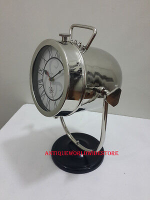 Retro Vintage Style Chrome Clock Home Decoration Table Desk / Clock