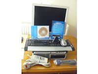 "HP Compaq Core 2 Duo PC + Sharp LCD 17"" Colour Monitor + Cordless Keyboard & Mouse Set"