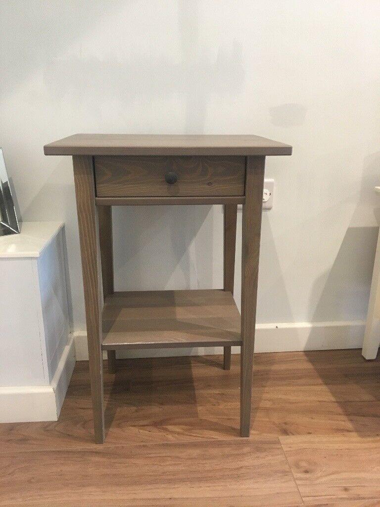 Grey Bedside Tables: Ikea Hemnes Bedside Table (brown/grey)
