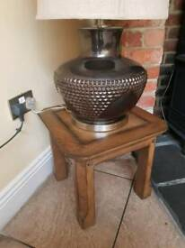 Solid Oak side table.