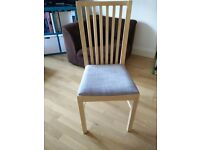 Ikea Norden/Norrnas extendable large wood table and 4 chairs