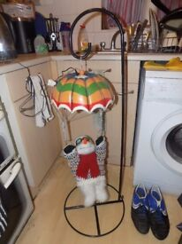 Tall swinging xmas snowman plays music and moves boxed
