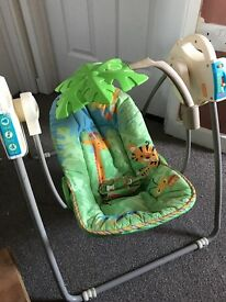 Fisher price jungle swing chair