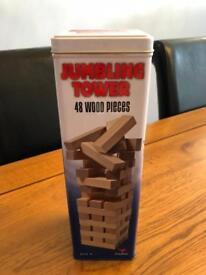 Jumbling tower game
