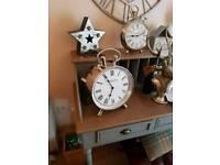 Fabulous Large Chrome Mantle Clocks Brand New