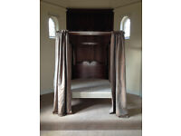 Kingsize Four-Poster Bed with Curtains, Oxford
