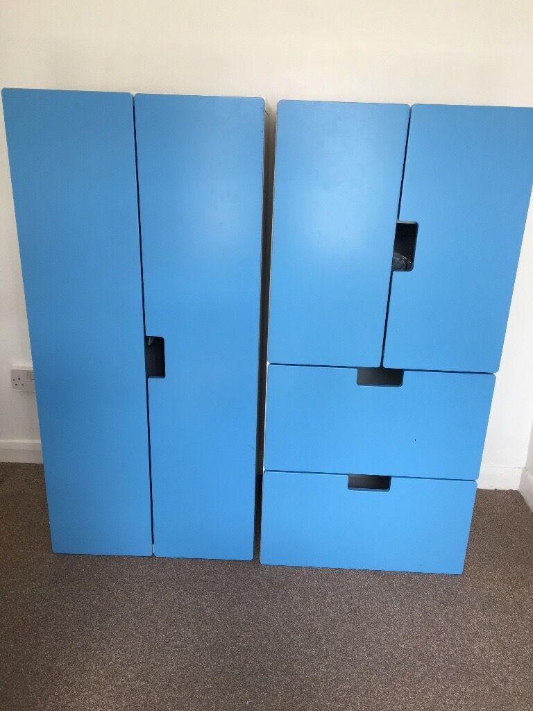 ikea stuva wardrobe drawer fronts only kids blue in houghton le spring tyne and wear gumtree. Black Bedroom Furniture Sets. Home Design Ideas