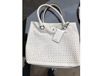 Karen Millen hand bag in white
