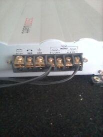 15 inch kicker sub and amp