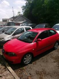 Seat Ibiza 1.4 sport 2005 55 red Warranty 12 months mot