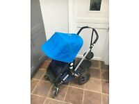 Bugaboo Cameleon Blue Pushchair Pram Buggy with accessories