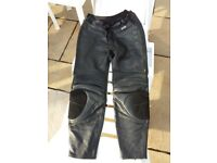 Black Leather Akiyo Bike Trousers - 42 inch waist