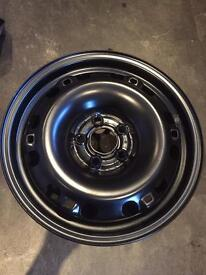 4 x 15 inch genuine SEAT wheel rims (as new) for snow tyres or spares