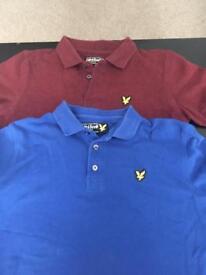 2 x Lyle and Scott boys t-shirts age 10-11