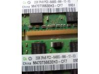 2 X 2GB PC2 memory. Made by Samsung