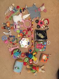 Large Toy Bundle 0-12m - 28 items - Lamaze, Fisher Price etc