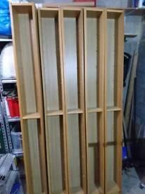 Ikea Benno Oak CD towers x5