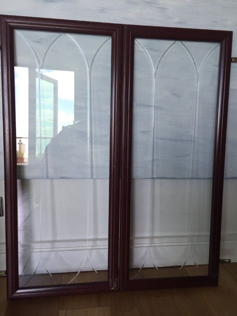 For sale, Display cabinet, wall unit glass doors with hinges | in ...